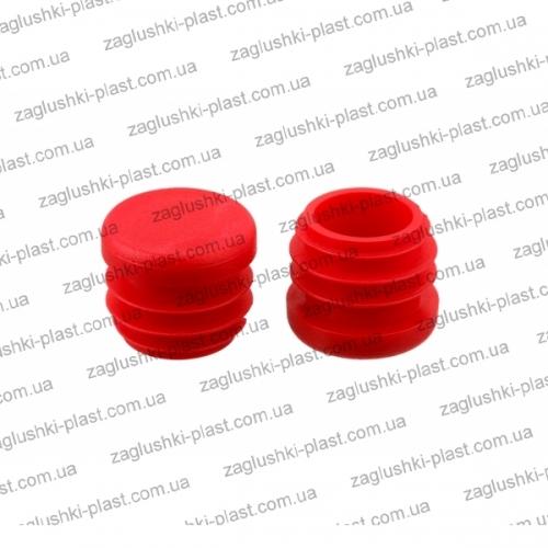 Заглушка круглая внутренняя д. 25 красная