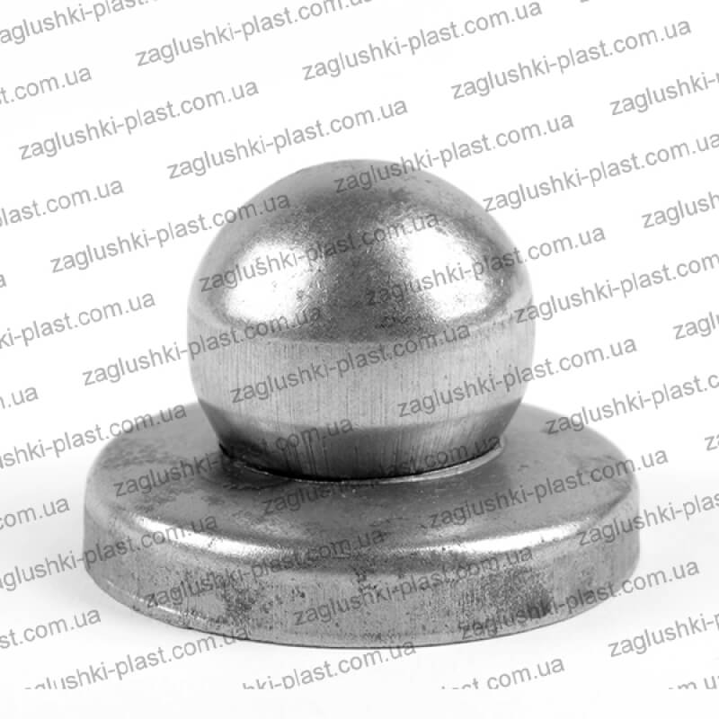 Заглушка металлическая круглая 52 шар 40