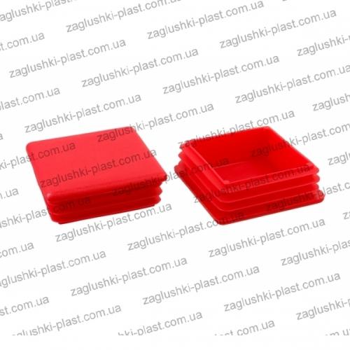 Заглушка квадратная внутренняя 60 на 60 красная