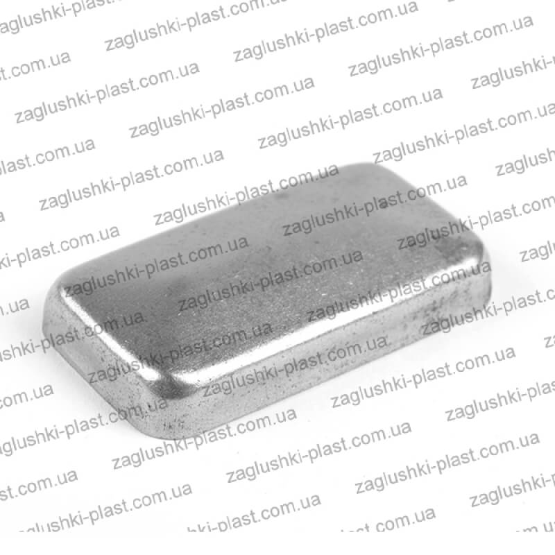 Заглушка металлическая прямоугольная 25 на 50