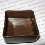 Заглушка квадратная наружная 50 на 50 коричневая