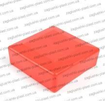 Заглушка квадратная наружная 100 на 100 красная